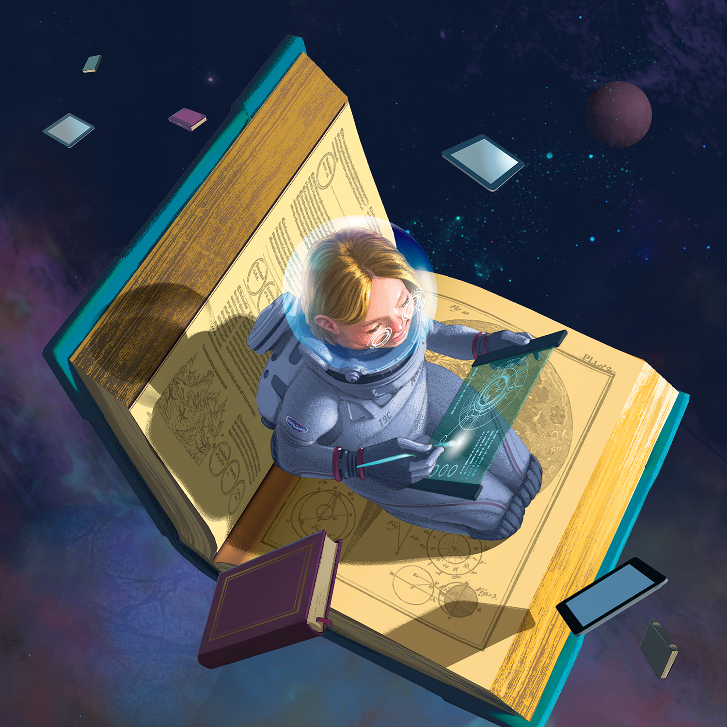 reading in space